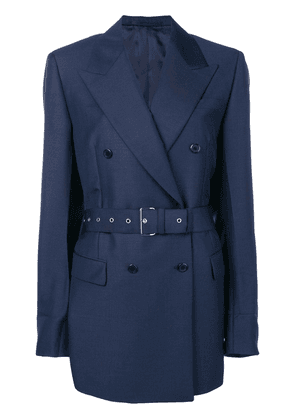 Prada double-breasted belted blazer - Blue