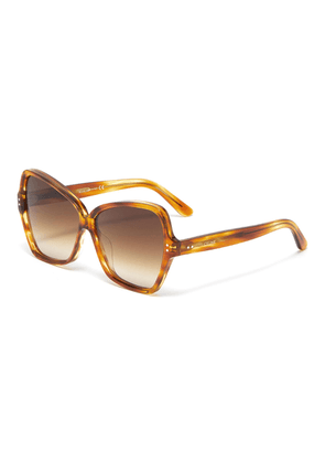 Oversized tortoiseshell acetate butterfly sunglasses