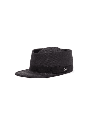 'Roby' grosgrain band woven straw cap