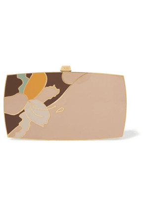 13BC - The Indulgence Gold-tone And Enamel Clutch - One size