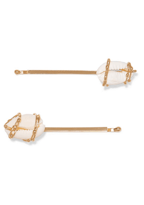 Rosantica - Beatrix Set Of Two Gold-tone And Shell Hair Pins - one size