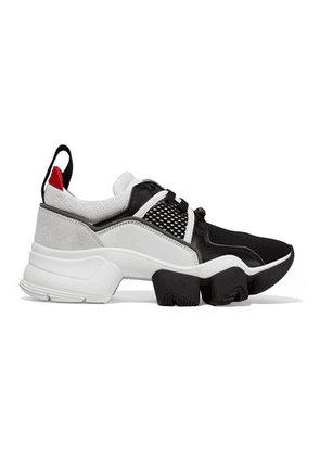 Givenchy - Jaw Mesh And Suede-trimmed Leather, Neoprene And Rubber Sneakers - Black