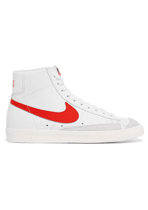 Nike - Blazer Mid 77 Vintage Suede-trimmed Leather High-top Sneakers - White