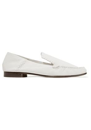 3.1 Phillip Lim - Nadia Whipstitched Textured-leather Loafers - Ivory
