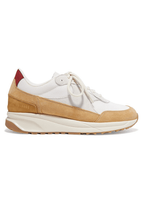 Common Projects - Track Suede And Mesh Sneakers - Beige