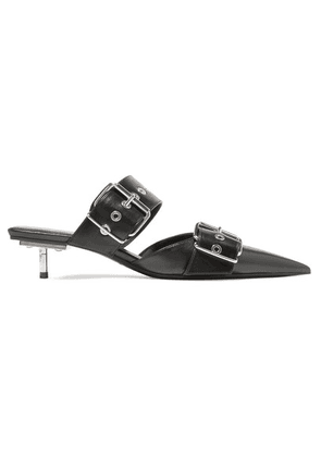 Balenciaga - Belt Leather Mules - Black