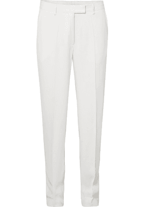 Dries Van Noten - Crepe Straight-leg Pants - White