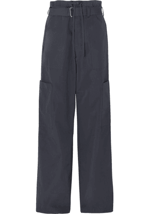 AMBUSH® - Belted Cotton-twill Wide-leg Cargo Pants - Navy