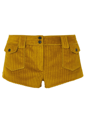 SAINT LAURENT - Corduroy Shorts - Yellow