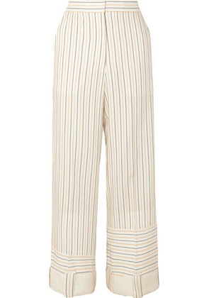 JW Anderson - Striped Woven Wide-leg Pants - Neutral