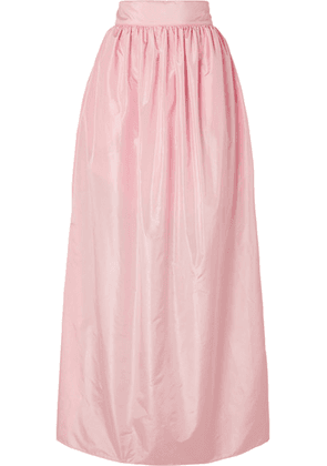 Michael Lo Sordo - Rose Pleated Silk-taffeta Maxi Skirt - Pastel pink