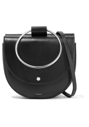 Theory - Whitney Leather Shoulder Bag - Black