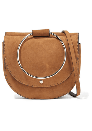 Theory - Whitney Suede Shoulder Bag - Tan