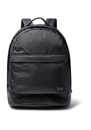 Paul Smith - Leather-trimmed Shell Backpack - Navy