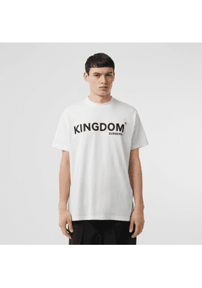Burberry Kingdom Print Cotton T-shirt, Size: XL, White