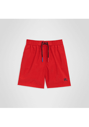 Burberry Childrens Drawcord Swim Shorts, Size: 6Y, Red