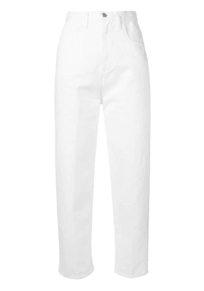 Moncler mom fit jeans - White