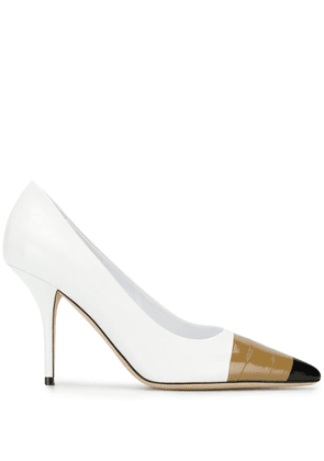 Burberry tape detail pumps - White