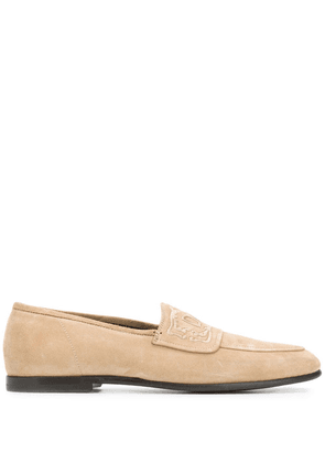 Dolce & Gabbana embroidered logo loafers - Neutrals