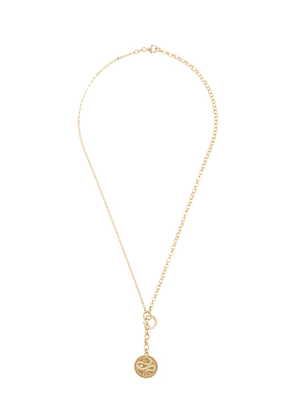 Foundrae 18t yellow gold Wholeness diamond medallion belcher chain