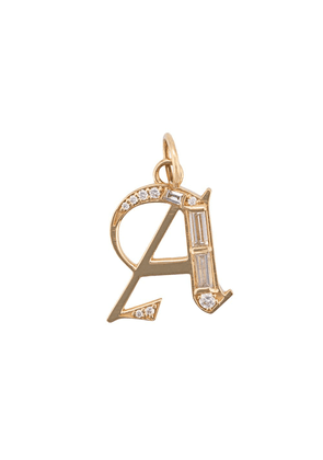 Foundrae 18kt yellow gold Element A initial pendant