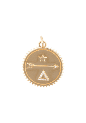 Foundrae 18kt yellow gold medium Dream diamond medallion