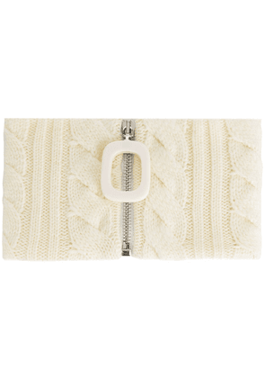 JW Anderson braided knit neckband - White