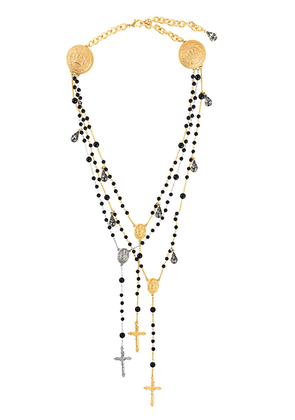 Dolce & Gabbana cross necklace - Black