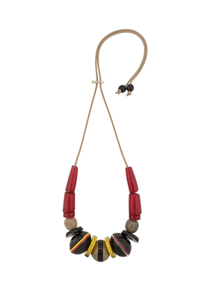 Marni beaded pendant necklace - Red