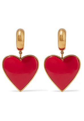 Balenciaga - Gold-tone And Resin Earrings - Red