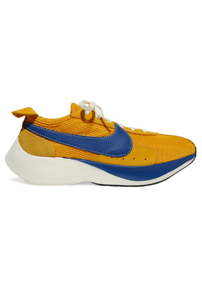 Nike - Moon Racer Qs Mesh, Suede And Leather Sneakers - Yellow