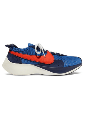 Nike - Moon Racer Qs Mesh, Suede And Leather Sneakers - Blue