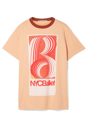 Acne Studios - Esmeta Printed Cotton-jersey T-shirt - Peach