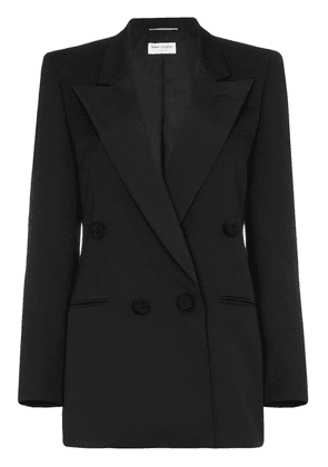 Saint Laurent single-breasted tuxedo blazer - Black