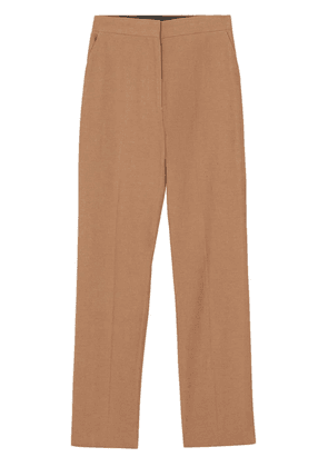 Burberry Cotton Linen Tailored Trousers - Brown