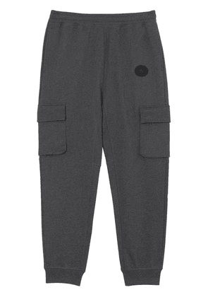 Burberry Pocket Detail Cotton Jersey Trackpants - Grey