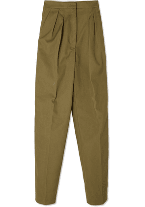 Golden Goose - Felicia Twill Straight-leg Pants - Army green