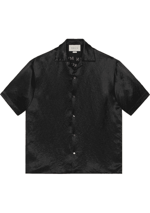 Gucci Embroidered acetate bowling shirt - Black