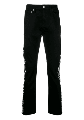 Ck Jeans regular jeans with brand stripe to the side - Black