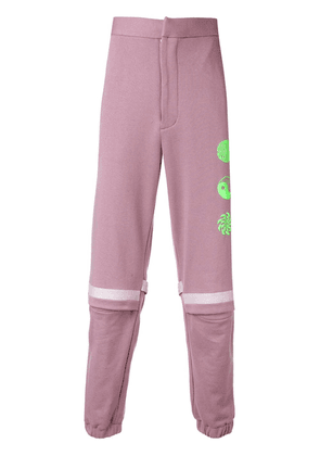 Ambush high-waist printed track pants - Pink