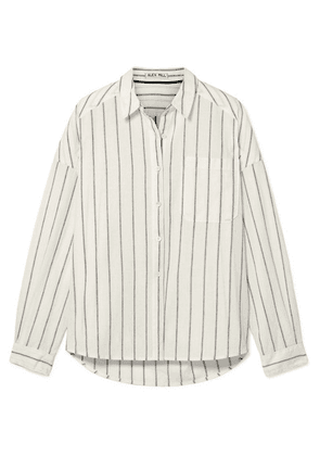 Alex Mill - Oversized Striped Cotton And Linen-blend Shirt - White