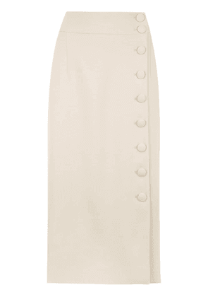 Egrey midi buttonned skirt - Neutrals