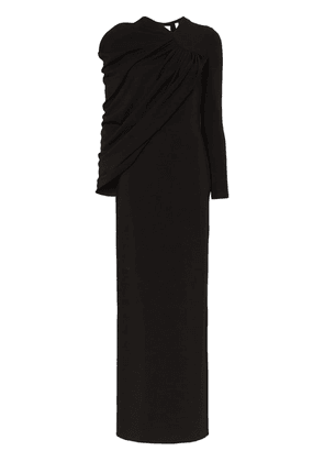 Burberry Draped maxi-gown - Black