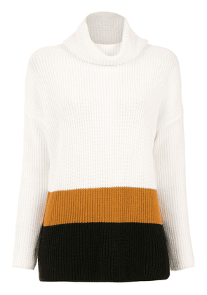 Egrey color block sweater - Yellow