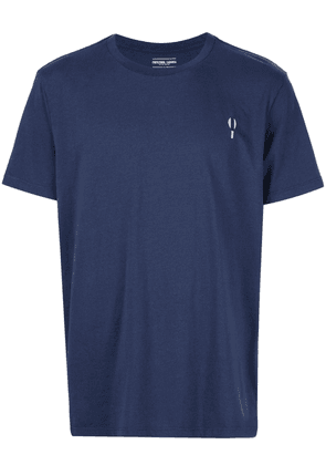 Frescobol Carioca logo embroidered T-shirt - Blue