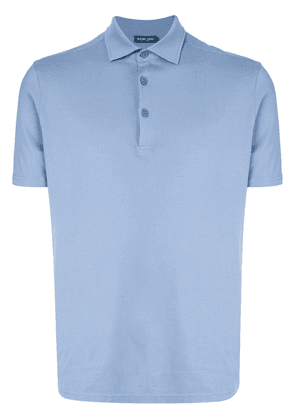 Frescobol Carioca short-sleeve polo shirt - Blue