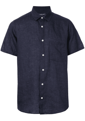 Frescobol Carioca short-sleeve fitted shirt - Blue