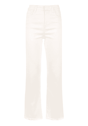 Egrey straight fit trousers - White