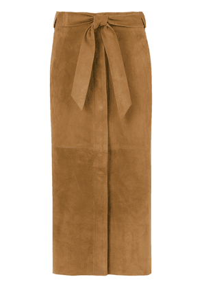 Egrey leather midi skirt - Brown