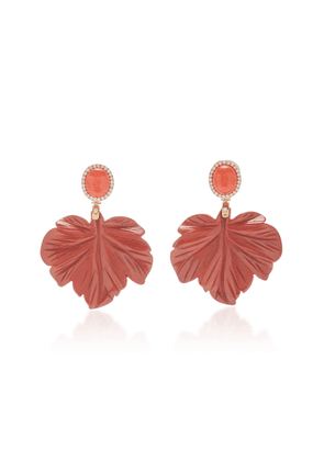 Casa Castro Coral Leaf Earrings